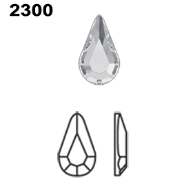 Swarovski 2300 Hot Fix Pear