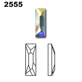 Swarovski 2555 Hot Fix Cosmic Baguette Diagram