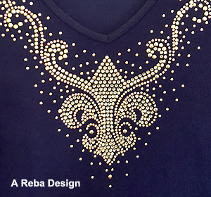 Reba Shirt with Crystal Rhinestones