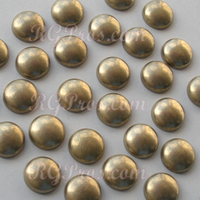 RG Convex Round Nailheads Hot Fix - Antique Gold