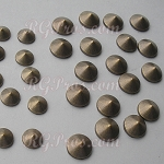 RG Convex Mini Spike Nailheads Hot Fix - Antique Gold