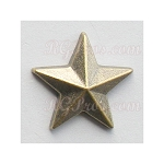 RG Convex Star 13mm Hot Fix Nailhead - Antique Gold