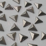 RG Convex Triangle 10 mm Hot Fix Nailhead - Antique Silver