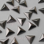 RG Convex Triangle 10 mm Hot Fix Nailhead - Hematite