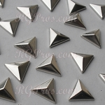 RG Convex Triangle 10 mm Hot Fix Nailhead - Silver