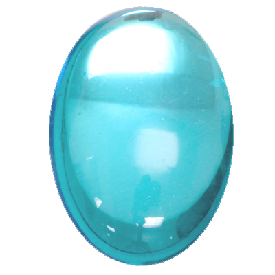 Preciosa Art 2195 Medium Dome Glass Oval Cabochons - Aquamarine