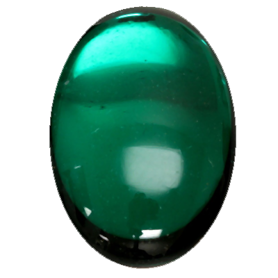 Preciosa Art 2195 Medium Dome Glass Oval Cabochons - Emerald