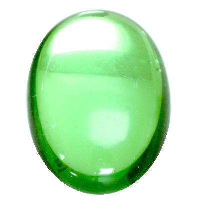 Preciosa Art 2195 Medium Dome Glass Oval Cabochons - Peridot