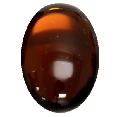 Preciosa Art 2195 Medium Dome Glass Oval Cabochons - Smoked Topaz