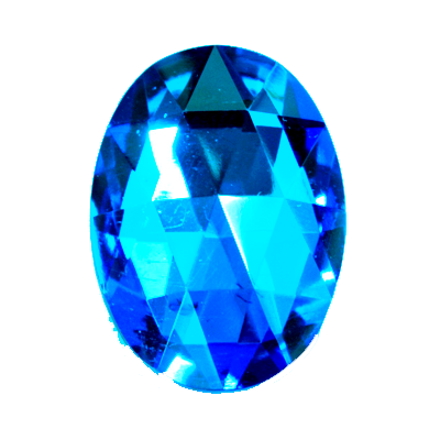 Preciosa Art 3293 Rauten Cut Oval Cut Flat Back Jewel - Bermuda Blue