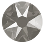 Swarovski <b>Hot Fix</b> (flat back) Round Rhinestones Art. 2078<br> - Dark Grey Lacquer Pro