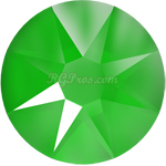 Swarovski <b>Hot Fix</b> (flat back) Round Rhinestones Art. 2078 & Art. 2038<br> - Electric Green Lacquer Pro