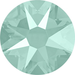 Swarovski <b>Hot Fix</b> (flat back) Round Rhinestones Art. 2078<br> - Mint Green Lacquer Pro