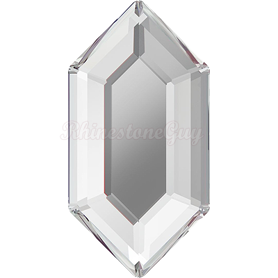 Swarovski 2776 Elongated Hexagon Flatback - Crystal