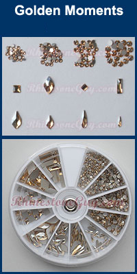 Swarovski Nail Art Kit - Golden Moments