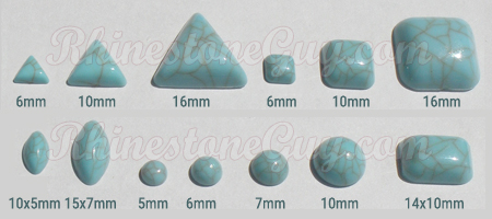 Acrylic Cabochons shapes and sizes