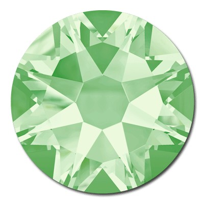 Swarovski <b>Hot Fix</b> (flat back) Round Rhinestones Art. 2078 & Art. 2038<br> - Chrysolite