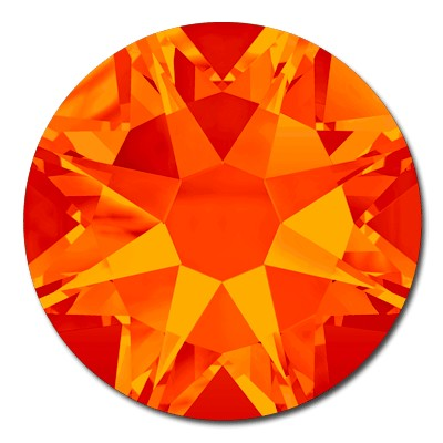 Swarovski <b>Hot Fix</b> (flat back) Round Rhinestones Art. 2078 & Art. 2038<br> - Fire Opal