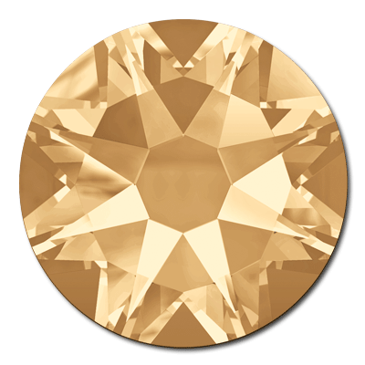 Swarovski <b>Hot Fix</b> (flat back) Round Rhinestones Art. 2078 & Art. 2038<br> - Crystal Golden Shadow