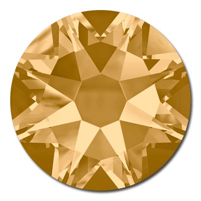 Swarovski <b>Hot Fix</b> (flat back) Round Rhinestones Art. 2078 & Art. 2038<br> - Light Colorado Topaz