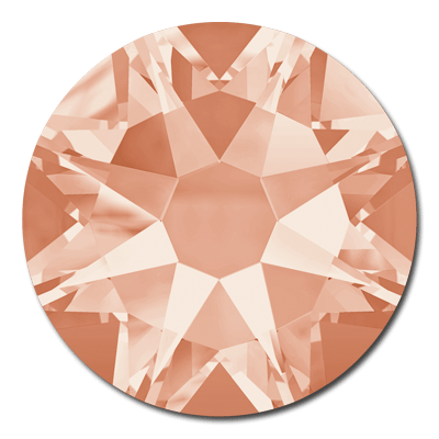 Swarovski <b>Hot Fix</b> (flat back) Round Rhinestones Art. 2078 & Art. 2038<br> - Light Peach