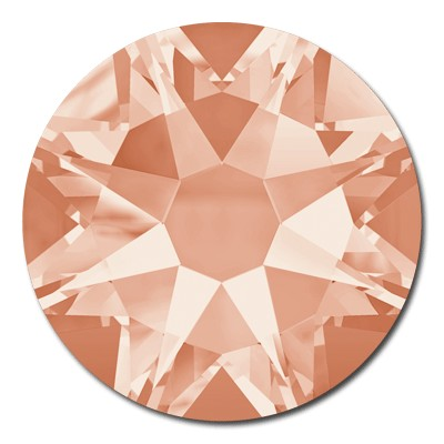Swarovski Flat Back Round Rhinestones Art 2088 & 2058 - Light Peach