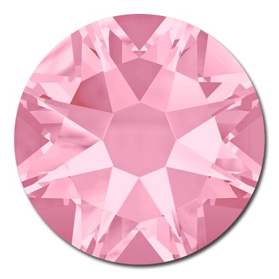 Swarovski <b>Hot Fix</b> (flat back) Round Rhinestones Art. 2078 & Art. 2038<br> - Light Rose