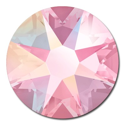 Swarovski <b>Hot Fix</b> (flat back) Round Rhinestones Art. 2078 & Art. 2038<br> - Light Rose AB
