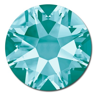 Swarovski <b>Hot Fix</b> (flat back) Round Rhinestones Art. 2078 & Art. 2038<br> - Light Turquoise