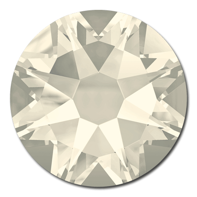 Swarovski <b>Hot Fix</b> (flat back) Round Rhinestones Art. 2078 & Art. 2038<br> - Crystal Moonlight