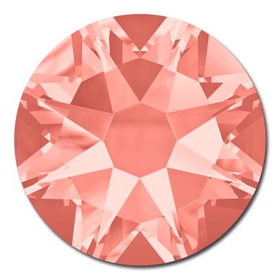 Swarovski <b>Hot Fix</b> (flat back) Round Rhinestones Art. 2078 & Art. 2038<br> - Rose Peach