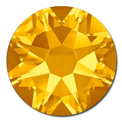 Swarovski <b>Hot Fix</b> (flat back) Round Rhinestones Art. 2078 & Art. 2038<br> - Sunflower
