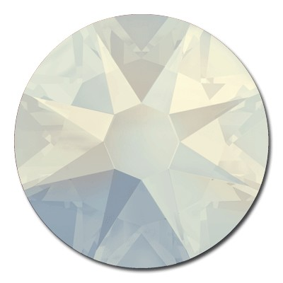 Swarovski <b>Hot Fix</b> (flat back) Round Rhinestones Art. 2078 & Art. 2038<br> - White Opal