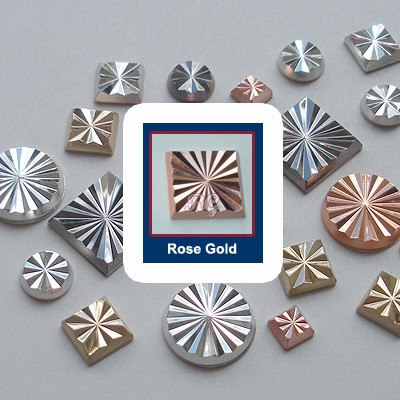 RG Radiance Square Nailheads Hot Fix - Rose Gold