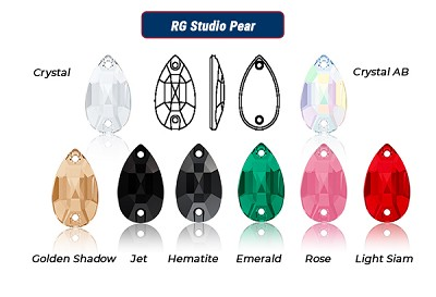RG Studio - Sew On Pear - Clearance Sale