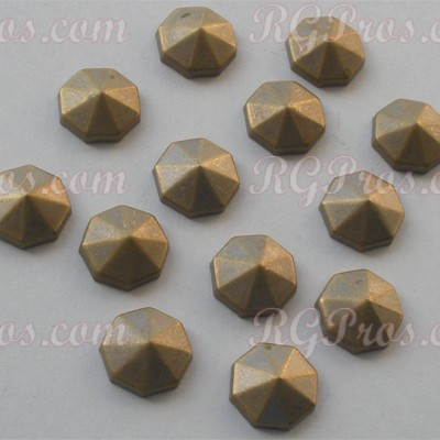 RG Convex Diamond Cut Nailheads Hot Fix - Antique Gold