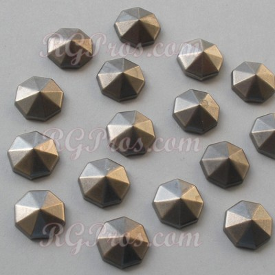 RG Convex Diamond Cut Nailheads Hot Fix - Antique Silver