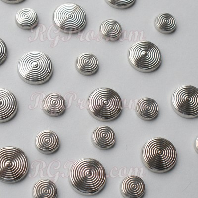 RG Convex Ring Nailheads Hot Fix - Silver