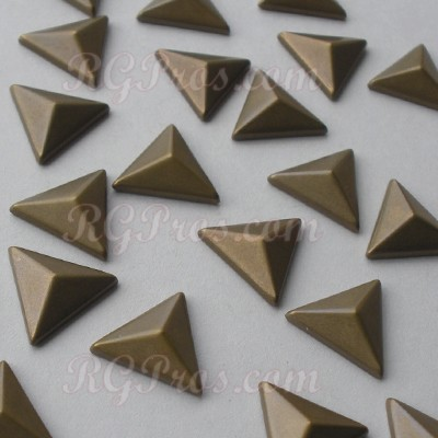 RG Convex Triangle 10 mm Hot Fix Nailhead - Antique Gold