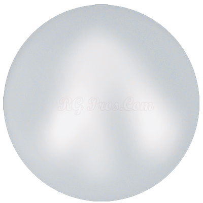 Swarovski 5817 Crystal Iridescent Dove Grey (1/2 Drilled) Pearl Cabochon Flat Back