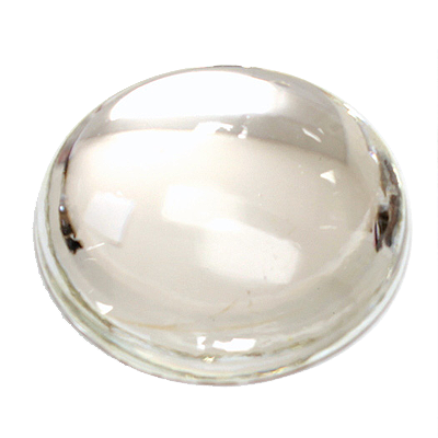 Preciosa Art 2194 Medium Dome Glass Round Cabochons - Crystal