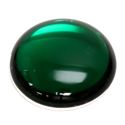 Preciosa Art 2194 Medium Dome Glass Round Cabochons - Emerald