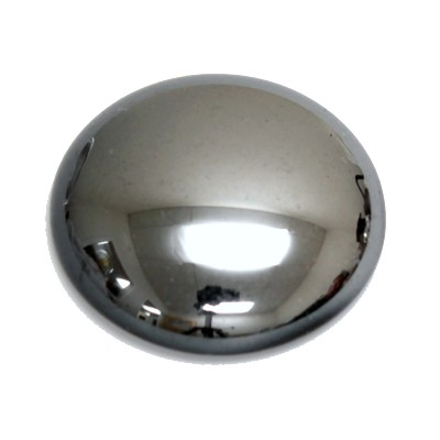Preciosa Art 2194 Medium Dome Glass Round Cabochons - Hematite (UF)