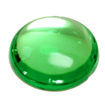 Preciosa Art 2194 Medium Dome Glass Round Cabochons - Peridot