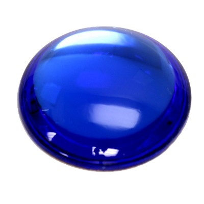 Preciosa Art 2194 Medium Dome Glass Round Cabochons - Sapphire