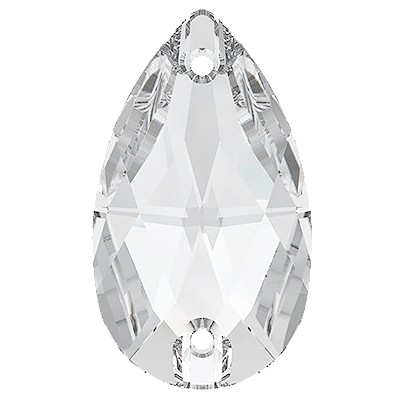 Rhinestone Guy Premium Sew On Pear - Crystal