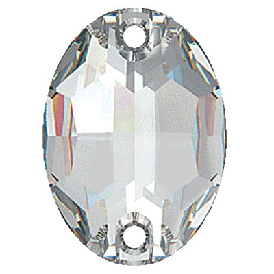 Preciosa 3023 Sew On Oval - Crystal