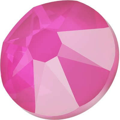 Swarovski <b>Hot Fix</b> (flat back) Round Rhinestones Art. 2078 & Art. 2038<br> - Electric Pink Lacquer Pro