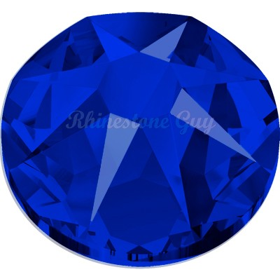 Swarovski Flat Back Round Rhinestones Art 2088 - High Voltage Blue
