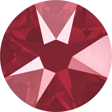 Swarovski <b>Hot Fix</b> (flat back) Round Rhinestones Art. 2078<br> - Dark Red Lacquer Pro